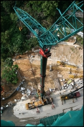 Using Demag 300ton Hydraulic Mobile Crane to dismantle Tower Crane