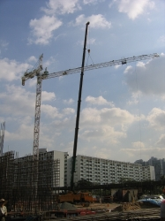 Erection of Potain MD235A Tower Crane