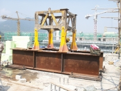 Steel Foundation Secured by Clamping the RC beams