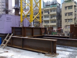 Steel Foundation mounted on R/C ground beams